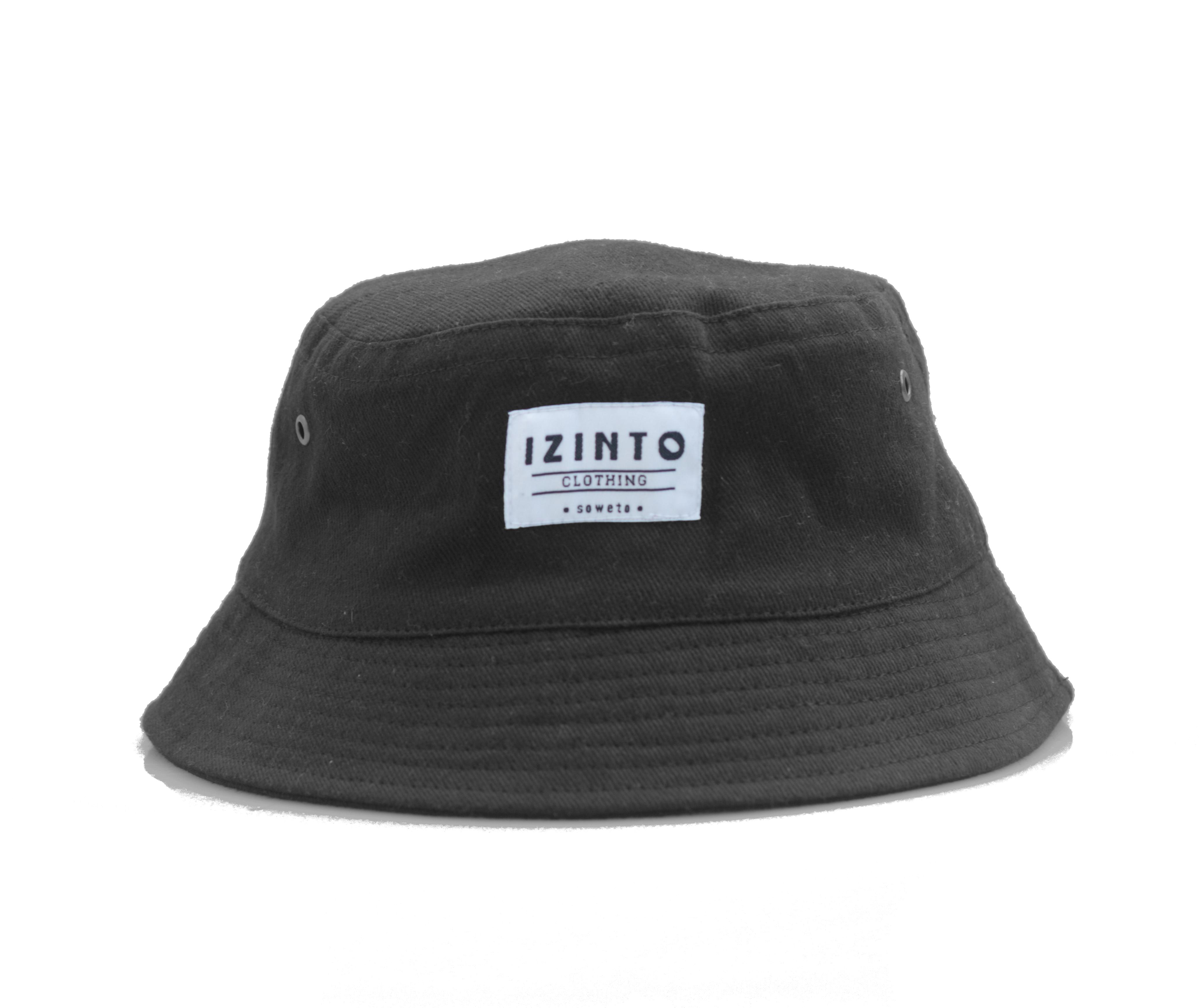 3c91dd8df0d Black Brushed Cotton Bucket Hat - Izinto Clothing